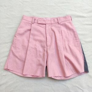 Marna Ro Pleated Floral Print Cut Off Shorts Sz 31